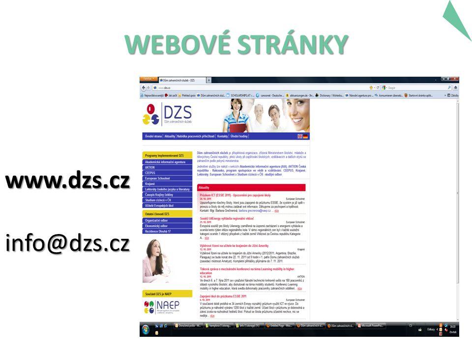 WEBOVÉ STRÁNKY www.dzs.cz info@dzs.cz info@dzs.cz