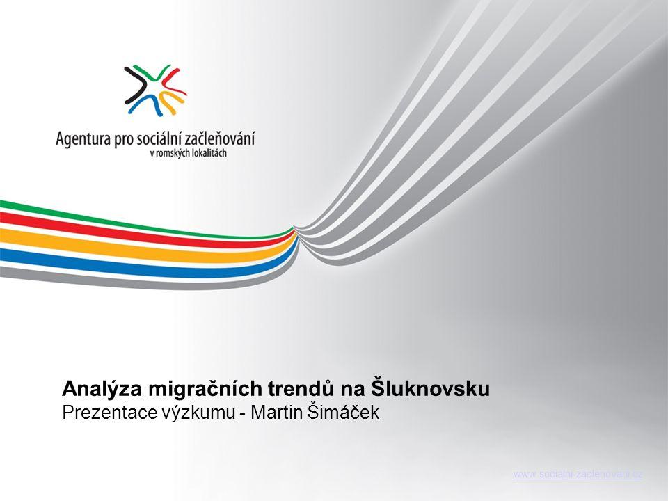 www.socialni-zaclenovani.cz Analýza migračních trendů na Šluknovsku Prezentace výzkumu - Martin Šimáček