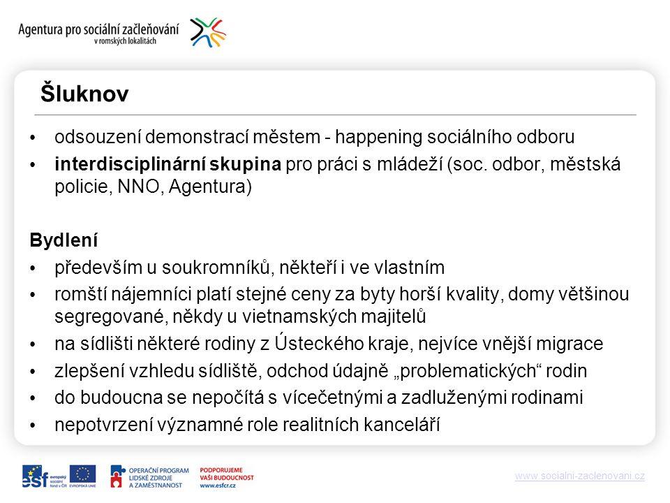 www.socialni-zaclenovani.cz Šluknov odsouzení demonstrací městem - happening sociálního odboru interdisciplinární skupina pro práci s mládeží (soc.