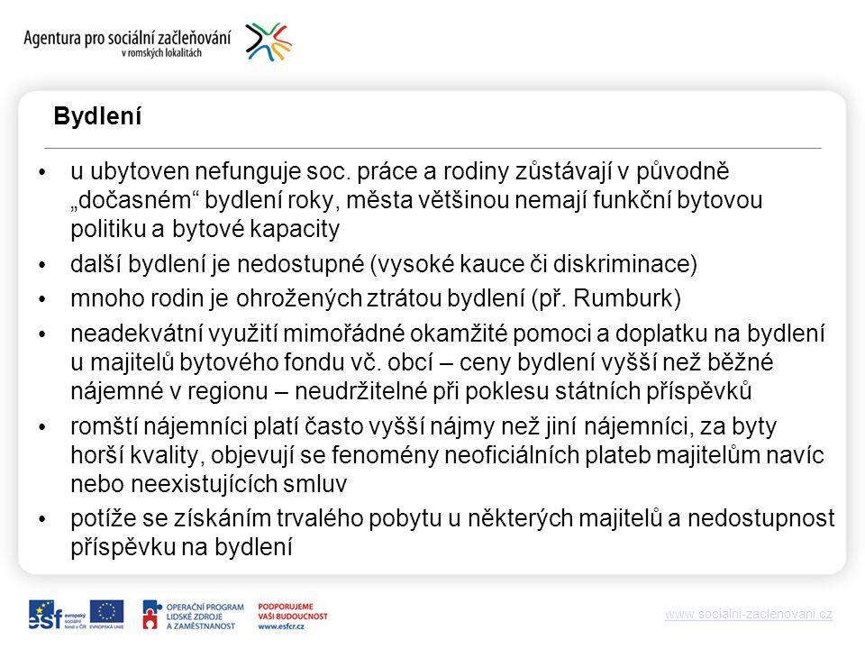 www.socialni-zaclenovani.cz Bydlení u ubytoven nefunguje soc.