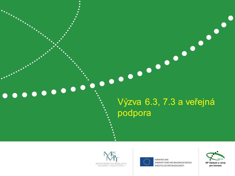 Výzva 6.3, 7.3 a veřejná podpora