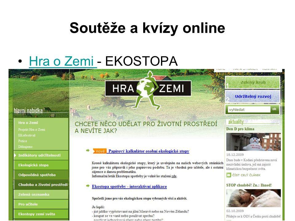 Soutěže a kvízy online Hra o Zemi - EKOSTOPAHra o Zemi