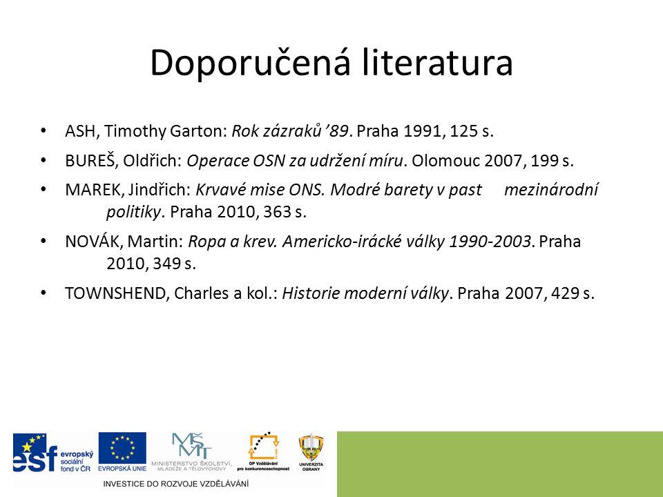 Doporučená literatura ASH, Timothy Garton: Rok zázraků '89.