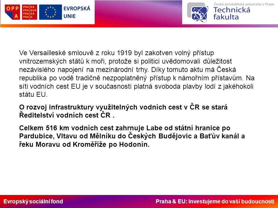 Evropský sociální fond Praha & EU: Investujeme do vaší budoucnosti Ve Versailleské smlouvě z roku 1919 byl zakotven volný přístup vnitrozemských států