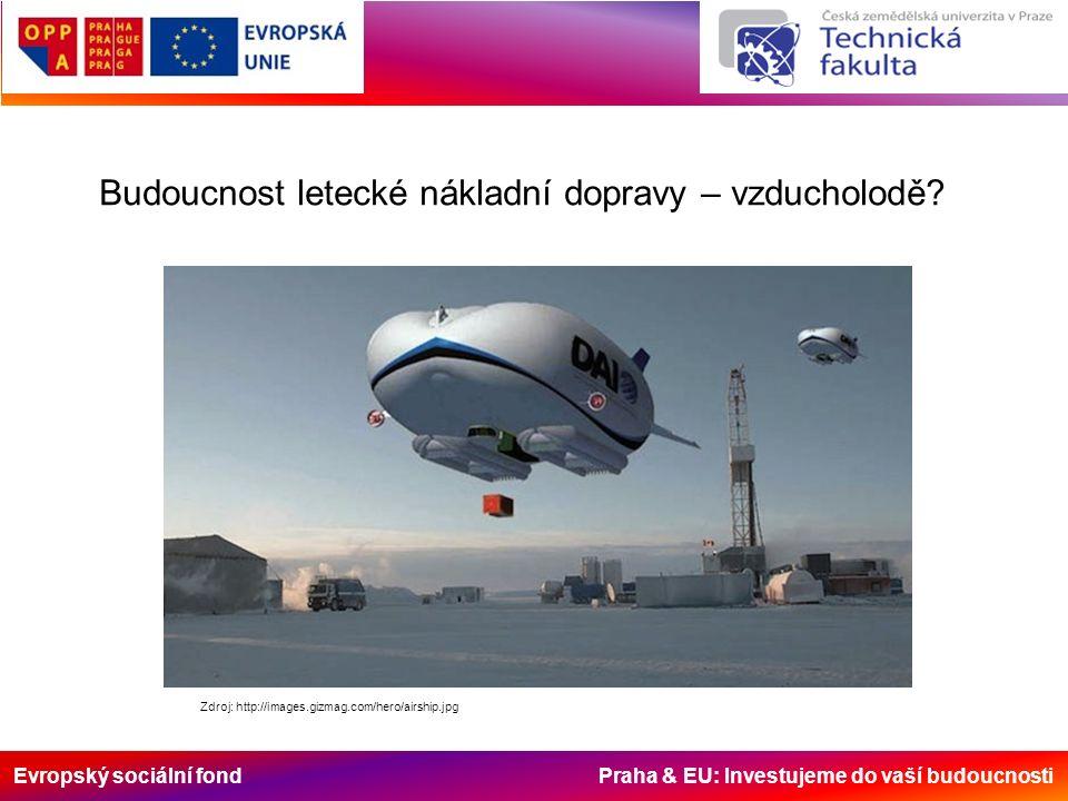 Evropský sociální fond Praha & EU: Investujeme do vaší budoucnosti Budoucnost letecké nákladní dopravy – vzducholodě? Zdroj: http://images.gizmag.com/