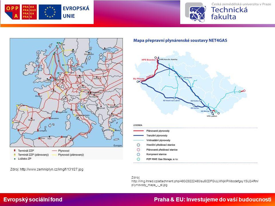 Evropský sociální fond Praha & EU: Investujeme do vaší budoucnosti Zdroj: http://i.idnes.cz/11/013/gal/JW38a427_trasy.JPG Hlavní evropské vodní cesty
