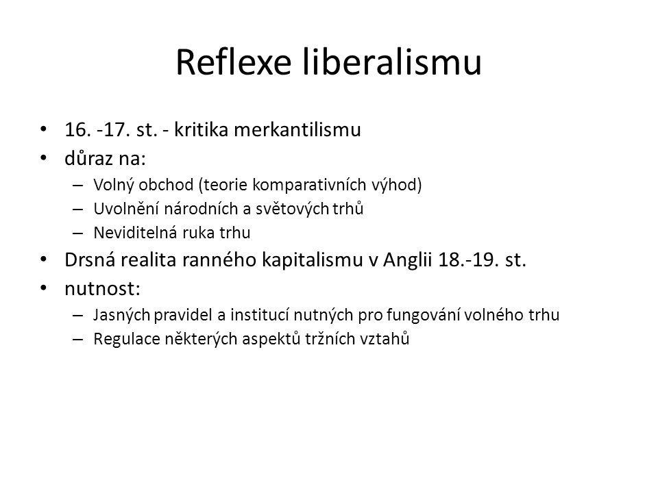 Reflexe liberalismu 16.-17. st.