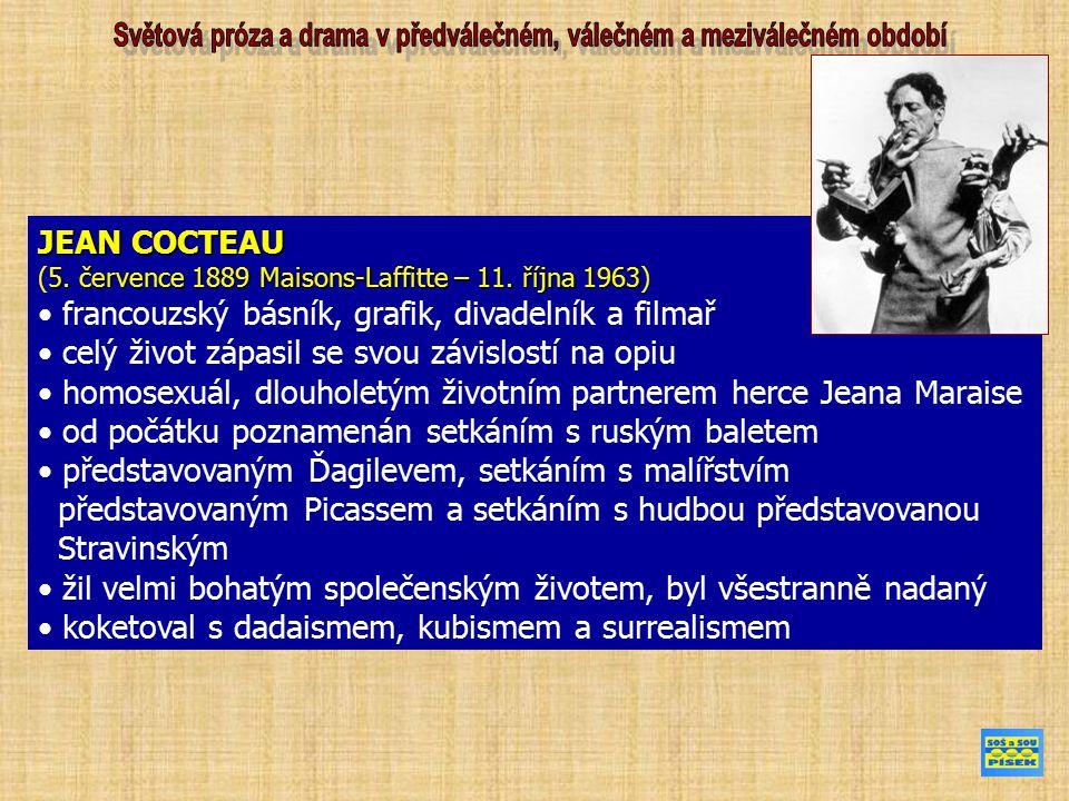 JEAN COCTEAU 5. července 1889 Maisons-Laffitte – 11.
