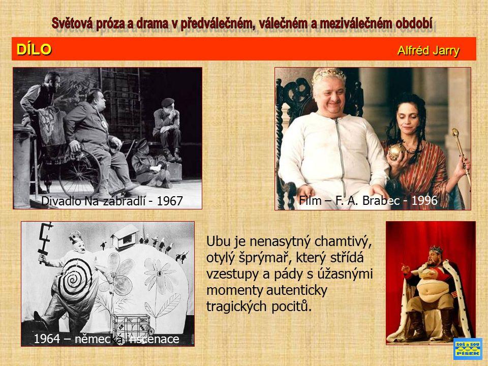 DÍLO Alfréd Jarry Divadlo Na zábradlí - 1967 Film – F.