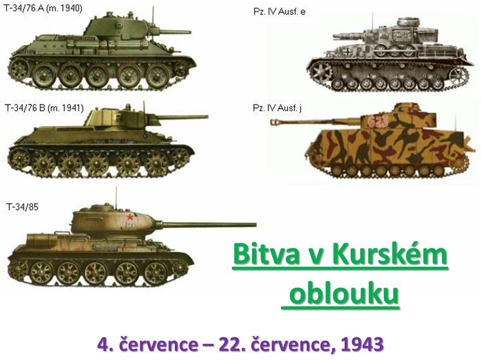 Bitva v Kurském oblouku 4. července – 22. července, 1943