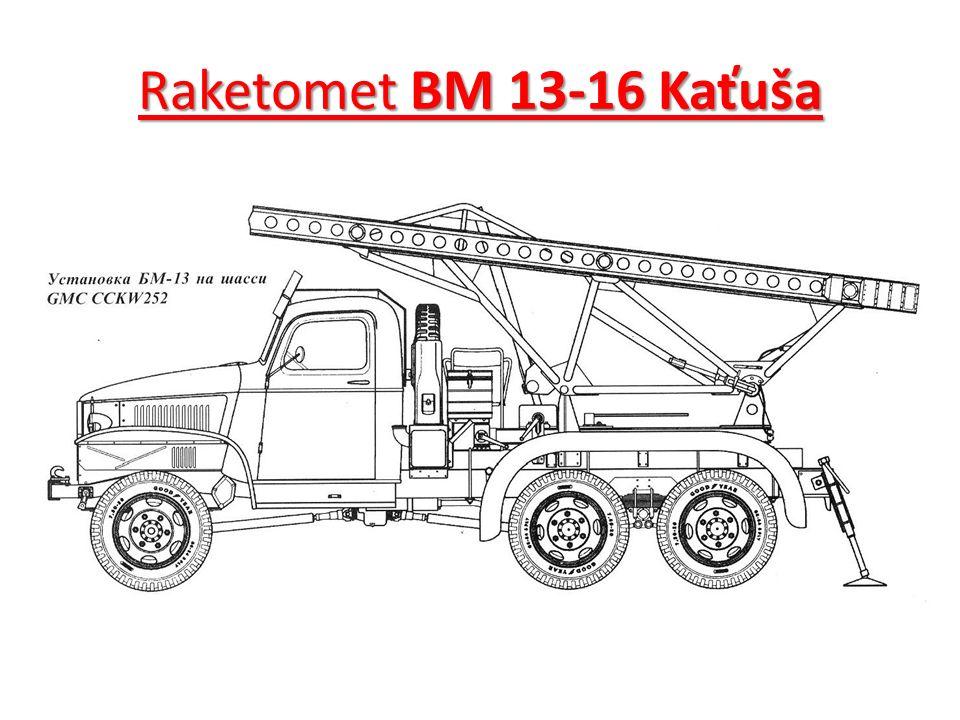 Raketomet BM 13-16 Kaťuša