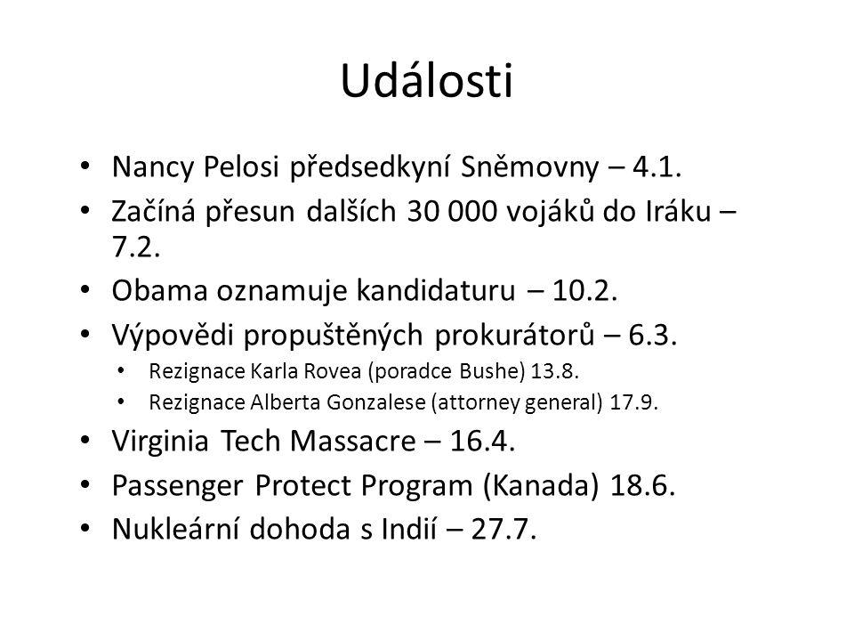 Události Nancy Pelosi předsedkyní Sněmovny – 4.1.