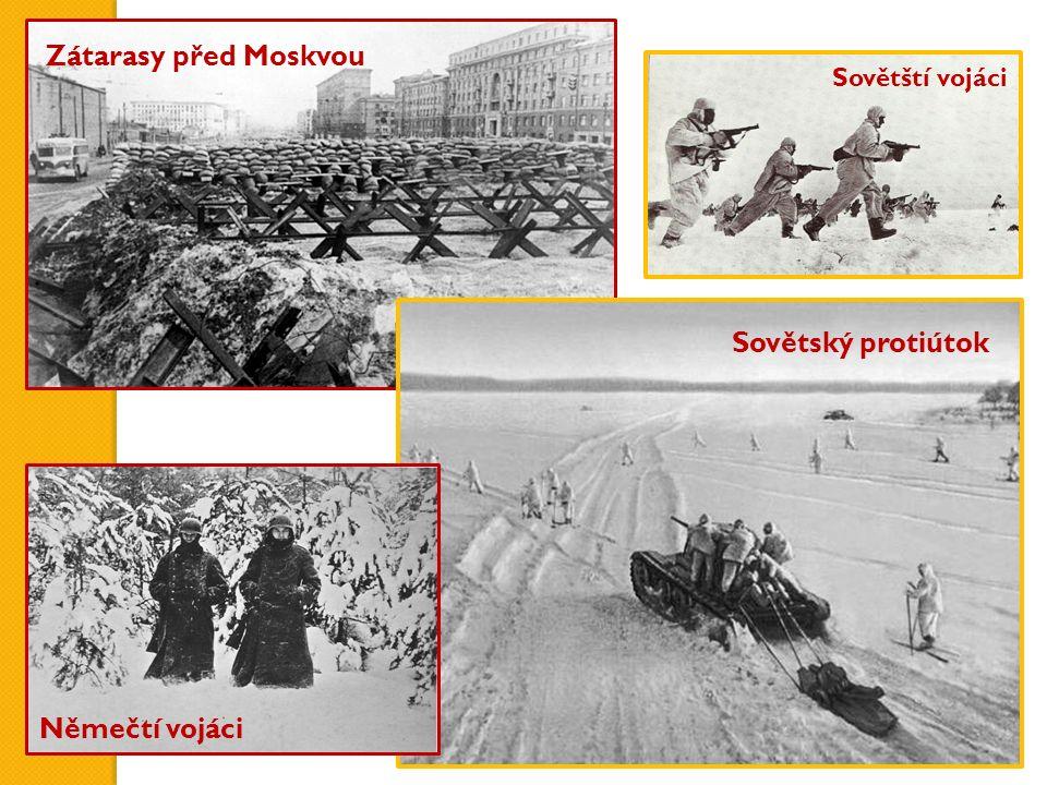 Zátarasy před Moskvou Sovětský protiútok Němečtí vojáci Sovětští vojáci