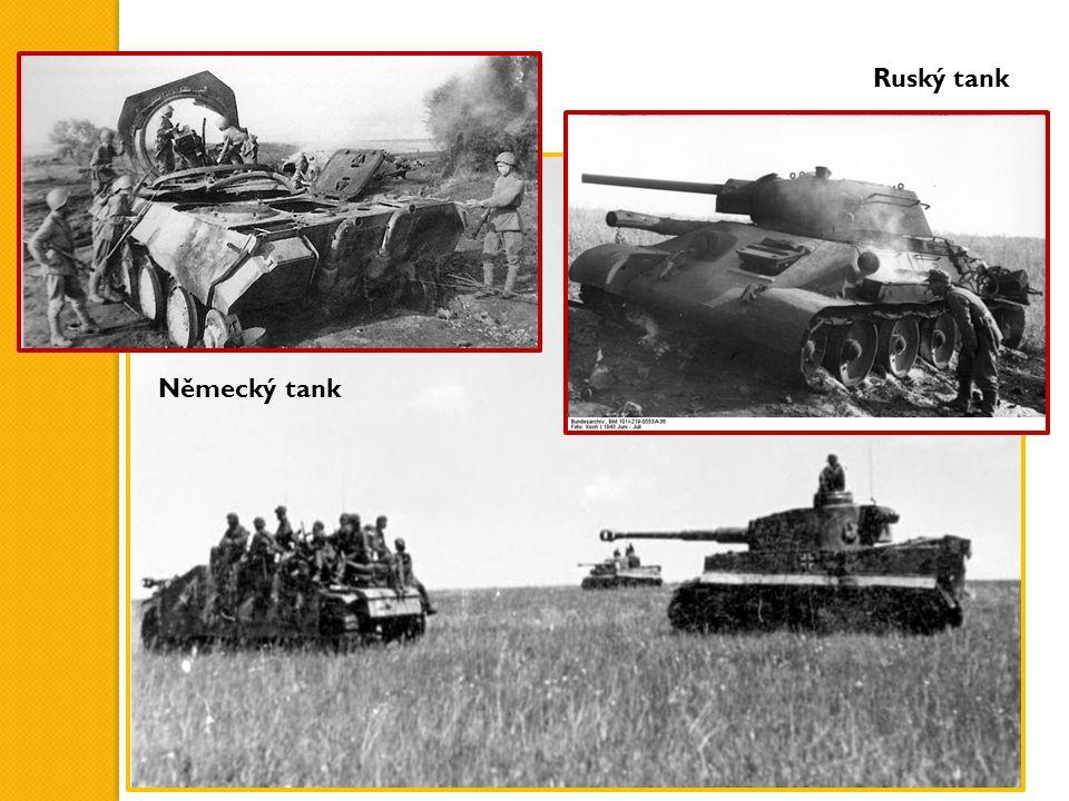 Německý tank Ruský tank