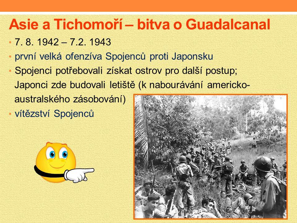 Asie a Tichomoří – bitva o Guadalcanal 7. 8. 1942 – 7.2.