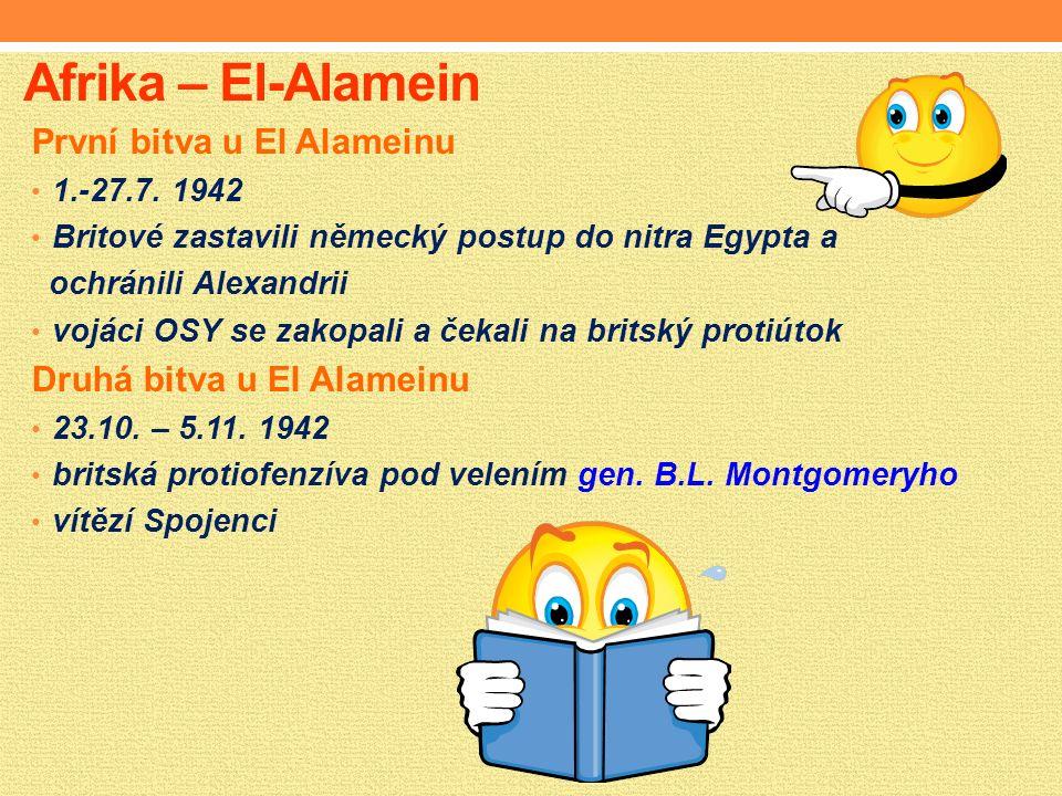 Afrika – El-Alamein První bitva u El Alameinu 1.-27.7.