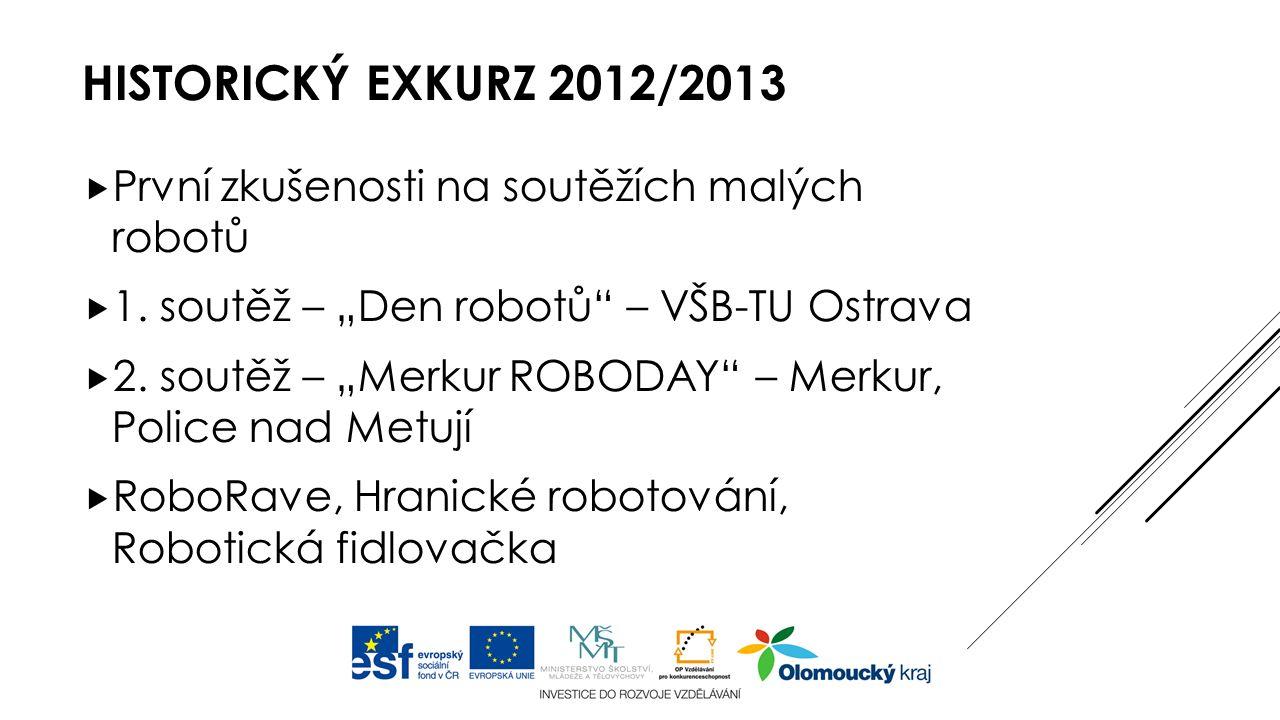 HISTORICKÝ EXKURZ 2012/2013  První zkušenosti na soutěžích malých robotů  1.