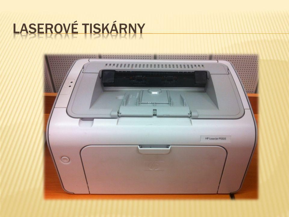  Laserová tiskárna je druh počítačové tiskárny, pracující na podobném principu jako kopírka.