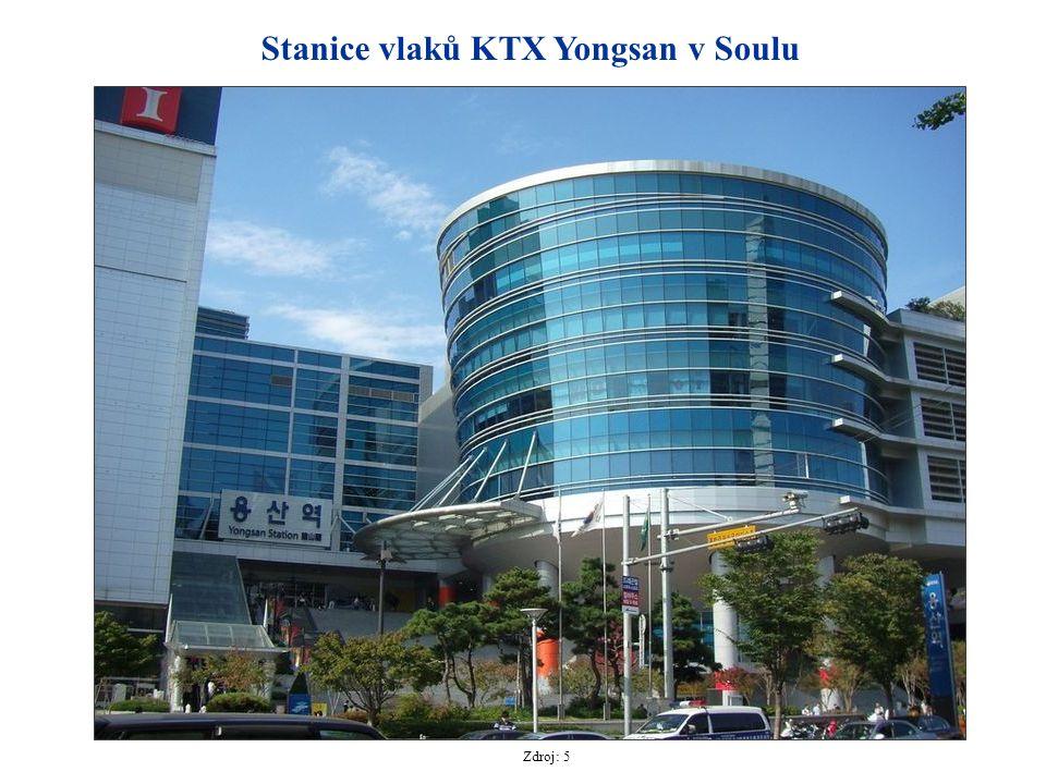Stanice vlaků KTX Yongsan v Soulu Zdroj: 5