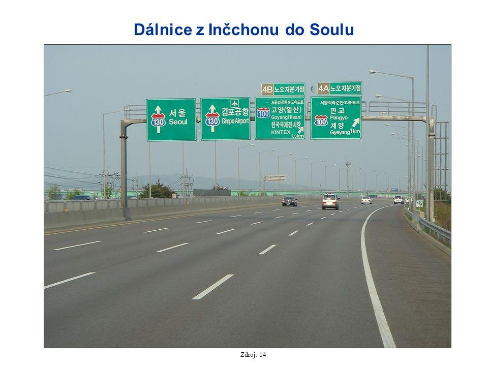 Dálnice z Inčchonu do Soulu Zdroj: 14