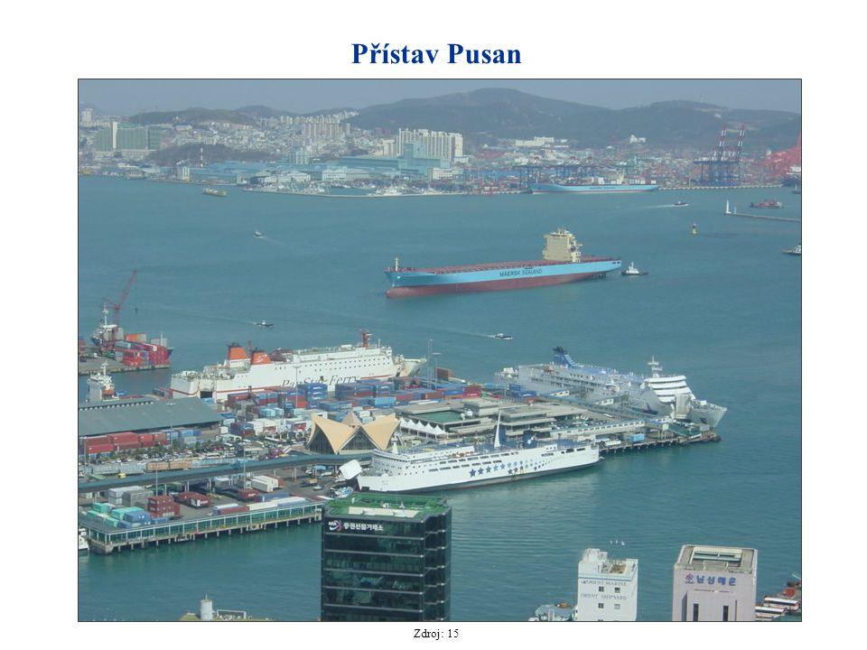 Přístav Pusan Zdroj: 15