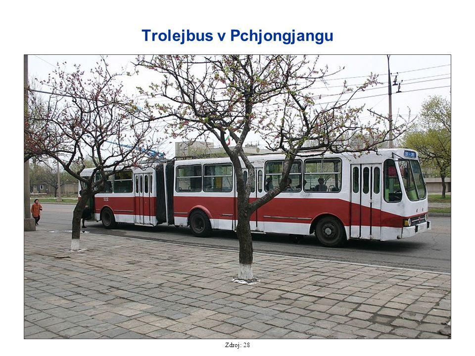 Trolejbus v Pchjongjangu Zdroj: 28