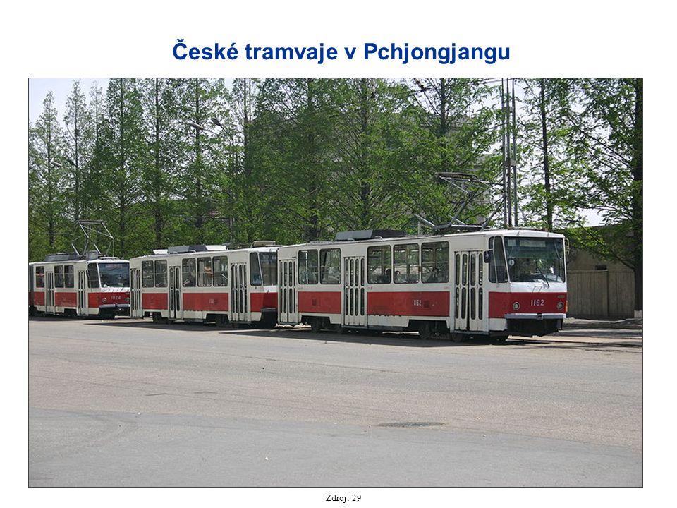 České tramvaje v Pchjongjangu Zdroj: 29