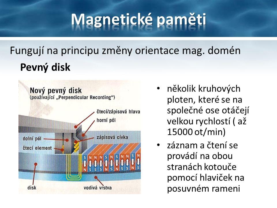 Fungují na principu změny orientace mag.