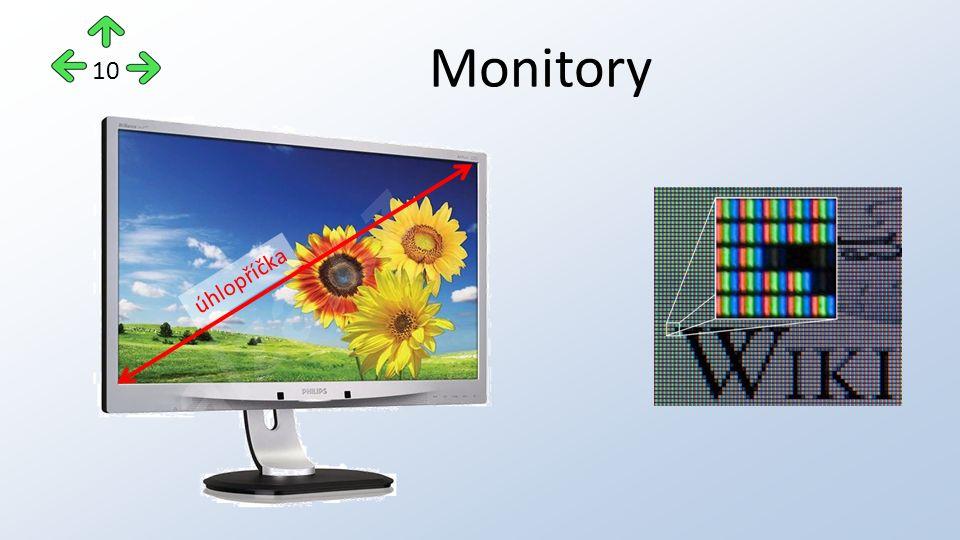 Monitory 10 úhlopříčka