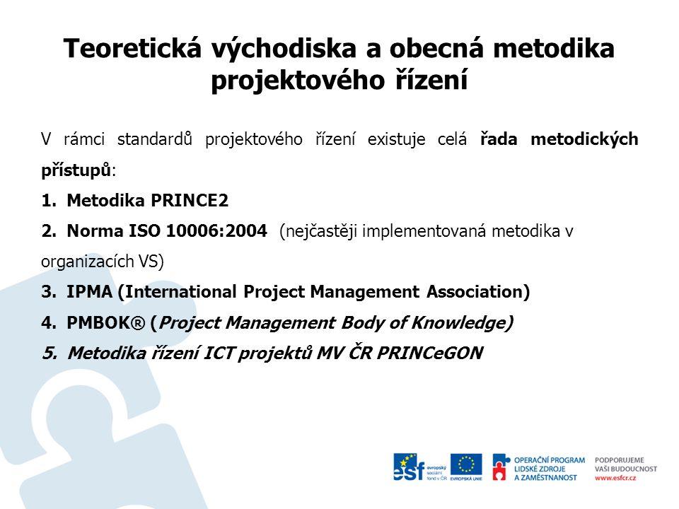 Obecné postupy a nástroje zavádění projektového řízení v organizacích veřejné správy