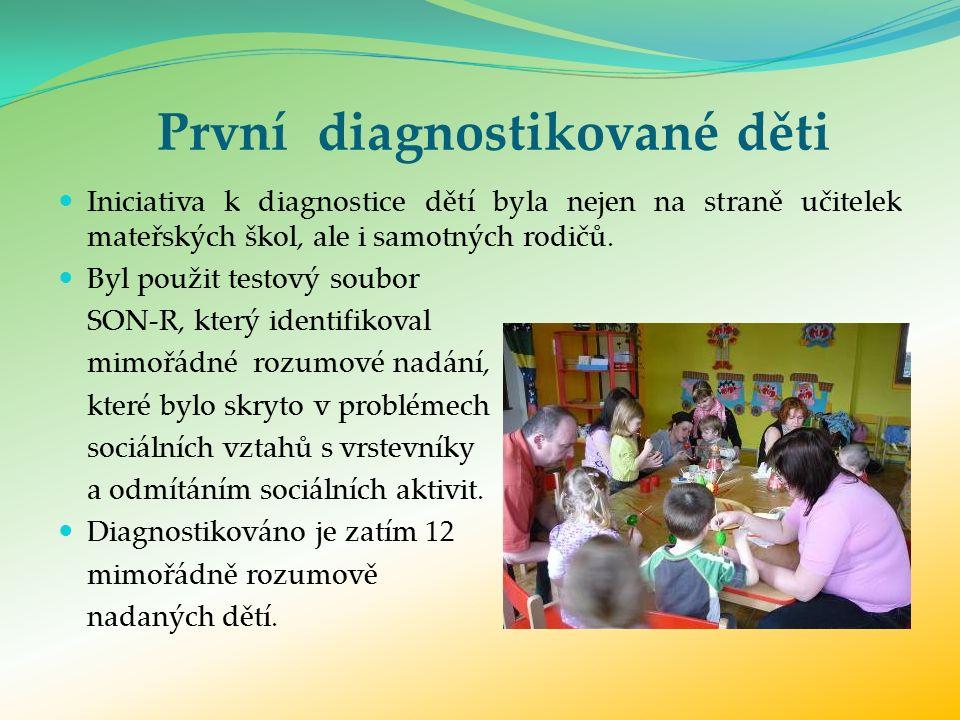 První diagnostikované děti Iniciativa k diagnostice dětí byla nejen na straně učitelek mateřských škol, ale i samotných rodičů.