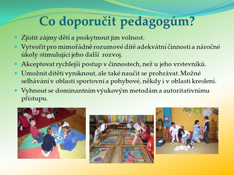 Co doporučit pedagogům. Zjistit zájmy dětí a poskytnout jim volnost.
