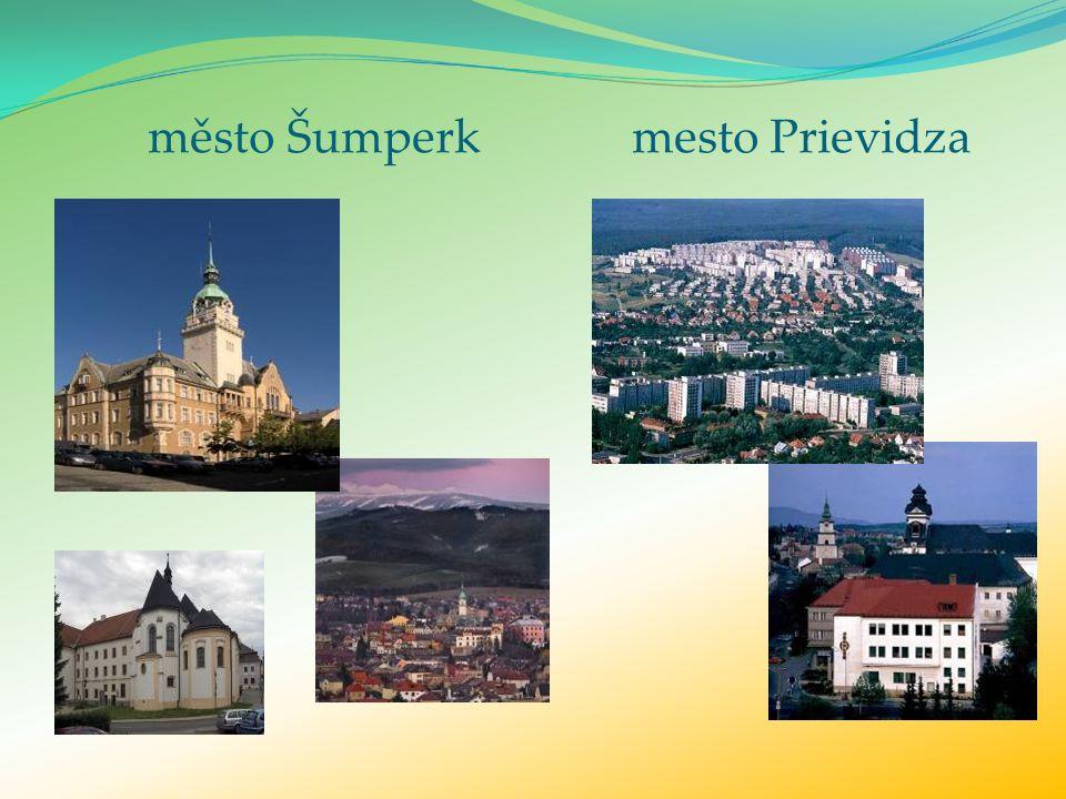 město Šumperk mesto Prievidza