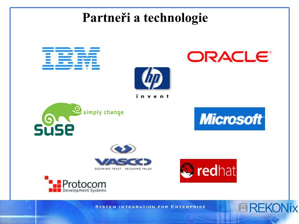 Partneři a technologie