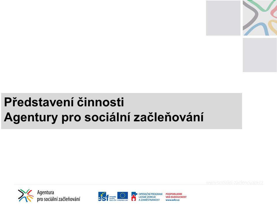 Agentura = Odbor pro soc. začleňování Sekce pro lidská práva Úřadu vlády ČR