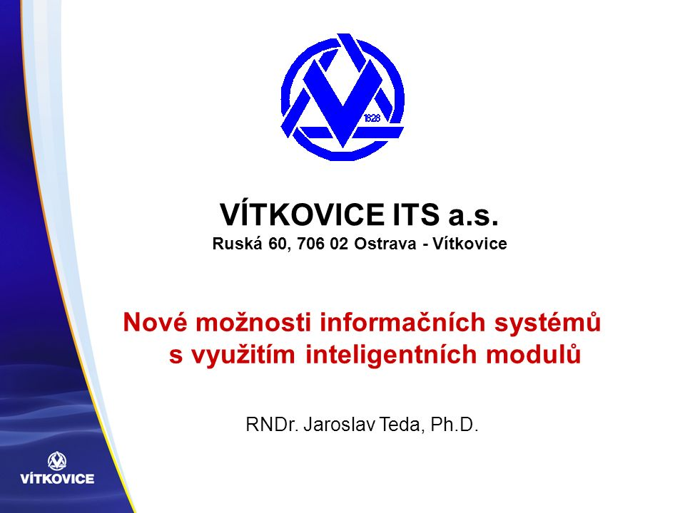 VÍTKOVICE ITS a.s.