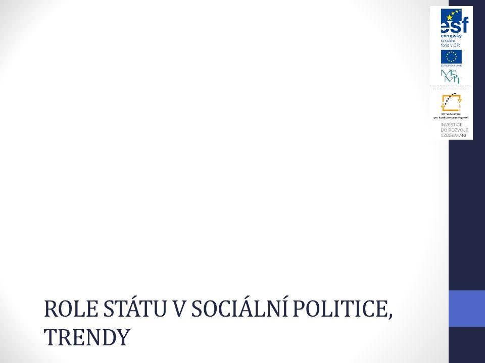 ROLE STÁTU V SOCIÁLNÍ POLITICE, TRENDY