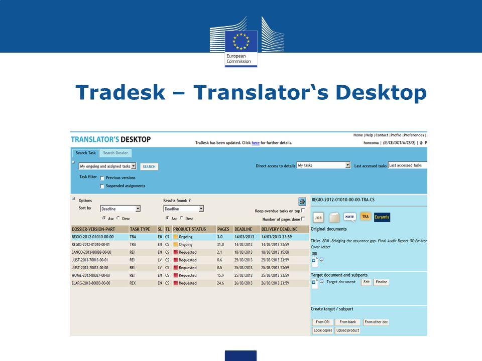 Tradesk – Translator's Desktop