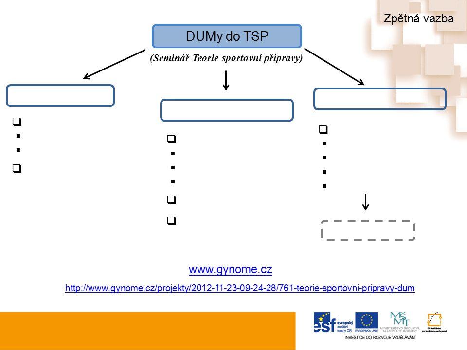 DUMy do TSP (Seminář Teorie sportovní přípravy)                               http://www.gynome.cz/projekty/2012-11-23-0