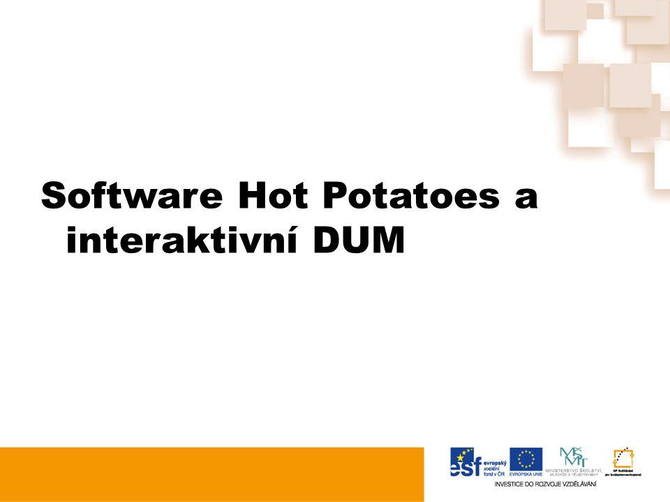 Software Hot Potatoes a interaktivní DUM