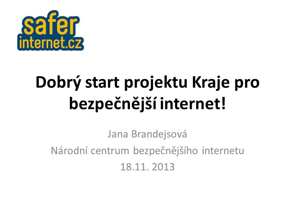 Dobrý start projektu Kraje pro bezpečnější internet.
