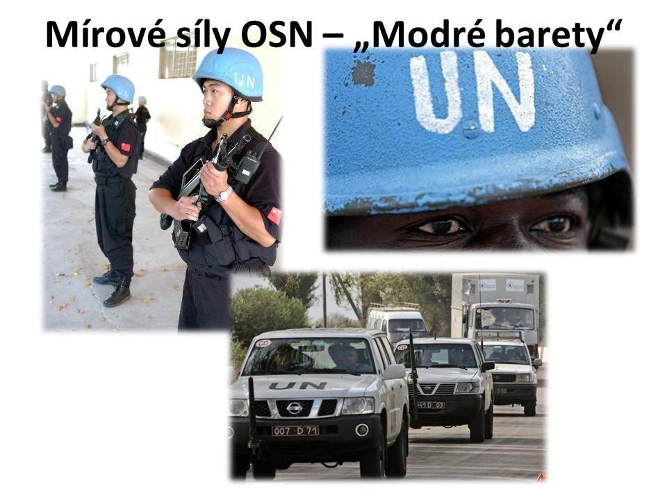 """Mírové síly OSN – """"Modré barety"""""""
