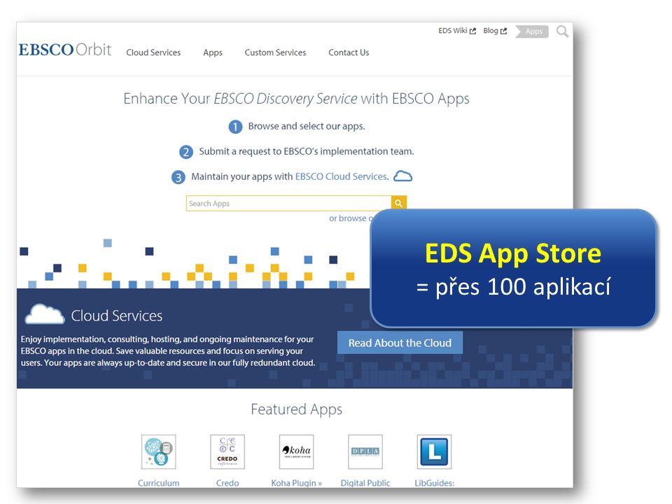 EDS App Store = přes 100 aplikací EDS App Store = přes 100 aplikací