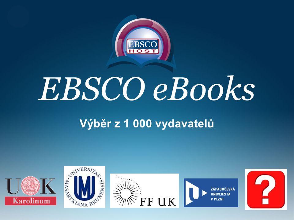 EBSCO eBooks Výběr z 1 000 vydavatelů