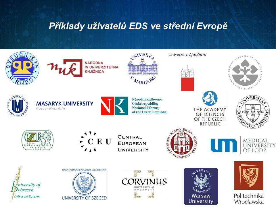 Příklady uživatelů EDS ve střední Evropě