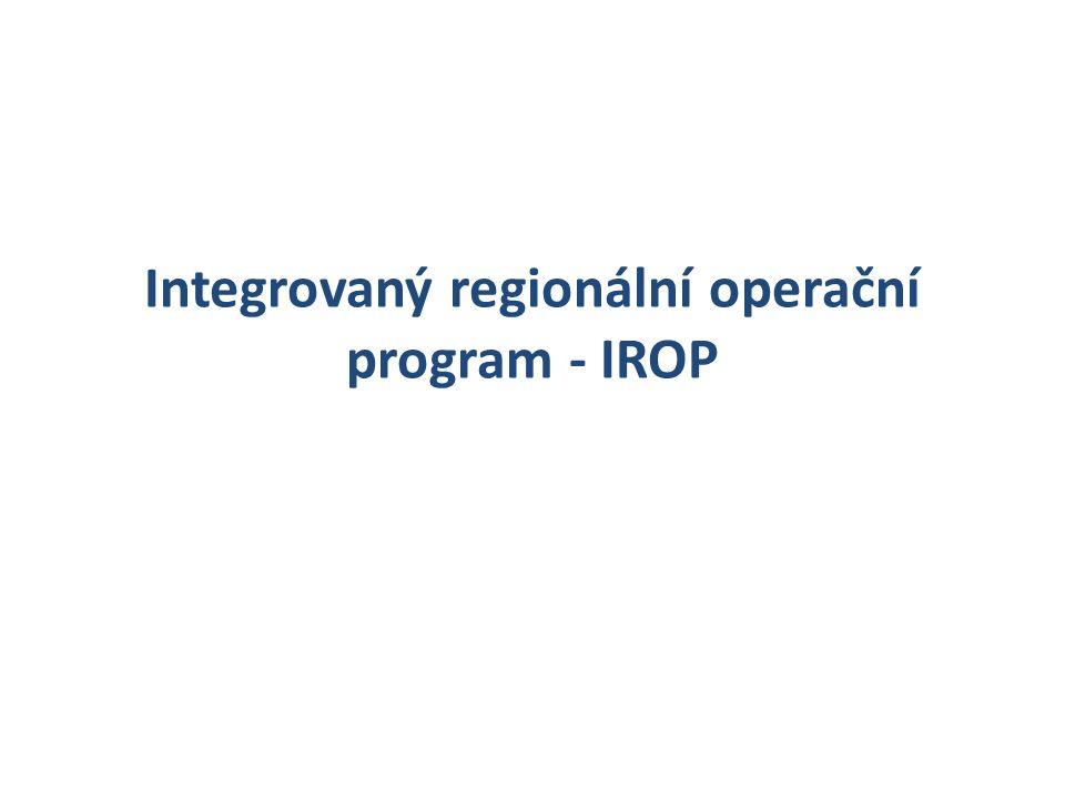 16 Integrovaný regionální operační program - IROP