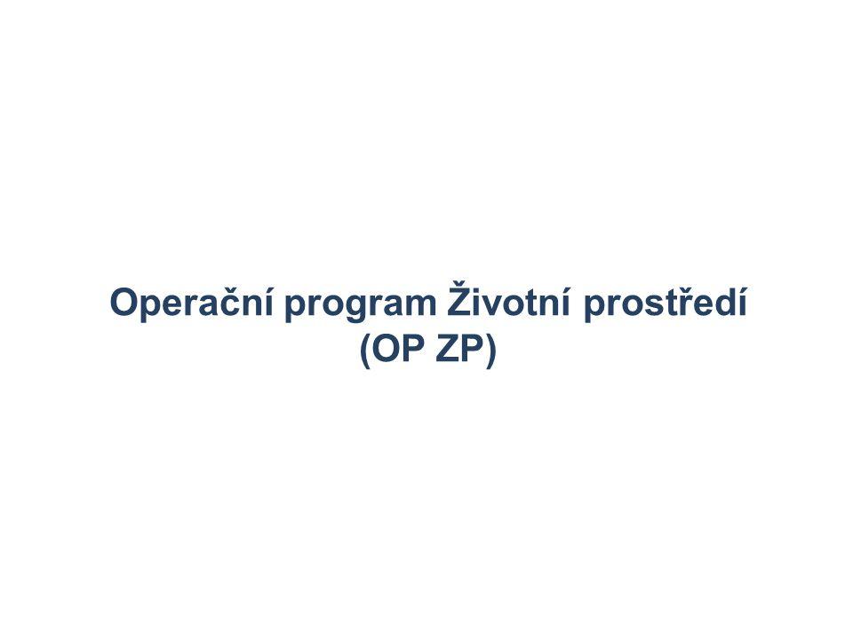 24 Operační program Životní prostředí (OP ZP)
