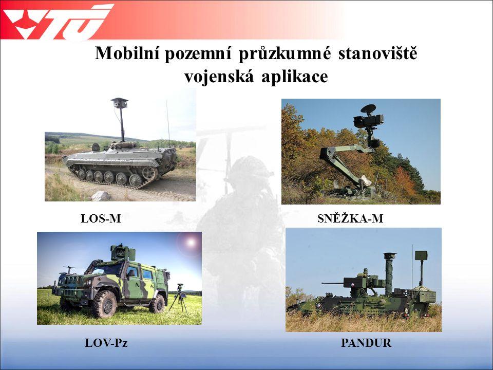 Mobilní pozemní průzkumné stanoviště vojenská aplikace SNĚŽKA-MLOS-M LOV-PzPANDUR