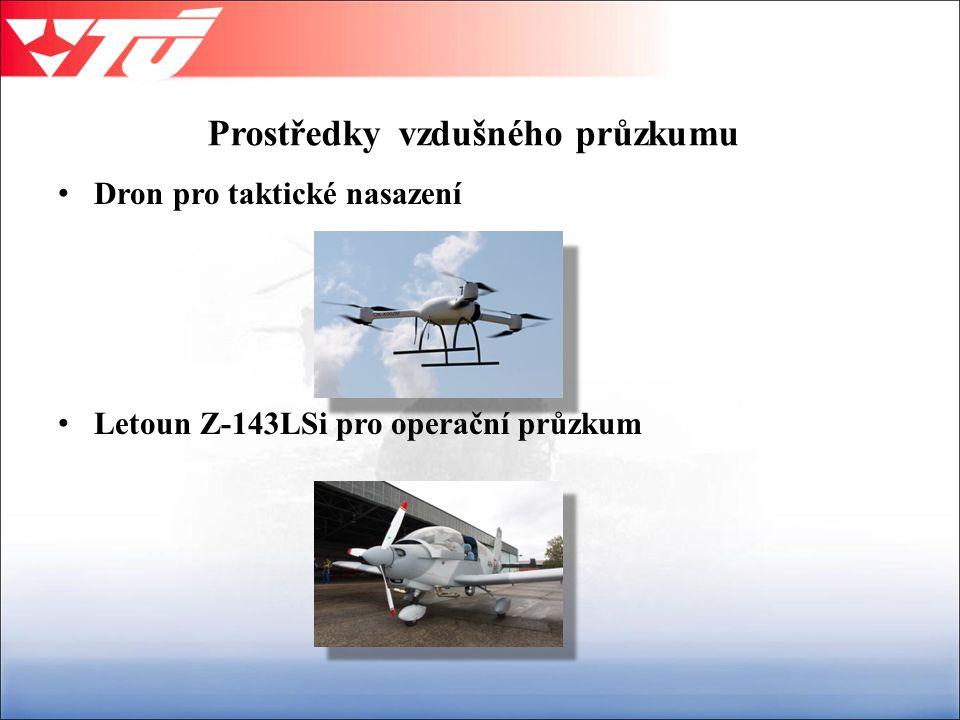 Prostředky vzdušného průzkumu Dron pro taktické nasazení Letoun Z-143LSi pro operační průzkum