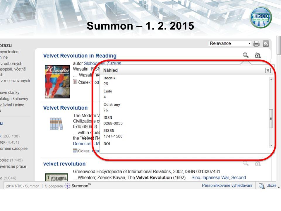 Summon – 1. 2. 2015